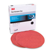3M 1225 Red Abrasive Hookit™ Disc, 6 in, P100, 50 discs per box