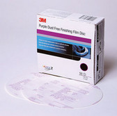 3M 30770 Purple Finishing Film Hookit™ Disc Dust-Free, 6 in, P800, 50 discs per box