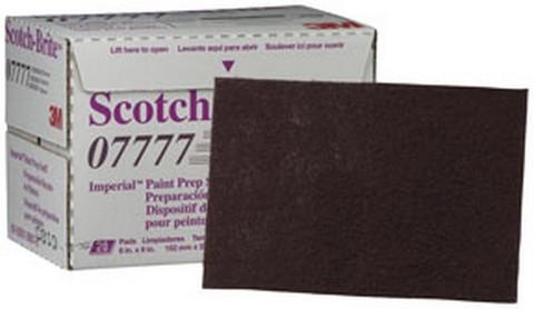 """3M 7777 Scotch-Brite™ Imperial™ Paint Prep Scuff Pad 07777 Maroon, 9"""" x 6"""", 20 pads/box"""