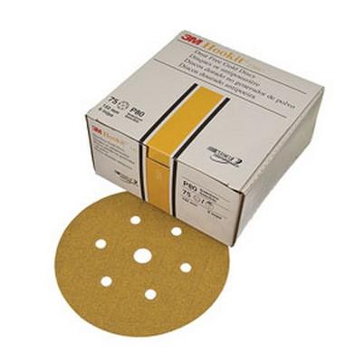 "3M 1075 Hookit™ Gold Disc D/F 01075, 6"", P320A, 100 discs/bx"
