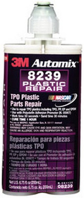 3M 8239 Automix™ TPO Plastic Parts Repair 08239, 200 mL Cartridge, 6/cs