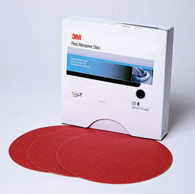3M 1107 Red Abrasive Stikit™ Disc, 6 in, P500, 100 discs per roll