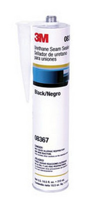 3M 8367 Urethane Seam Sealer, Black, 310 mL Cartridge