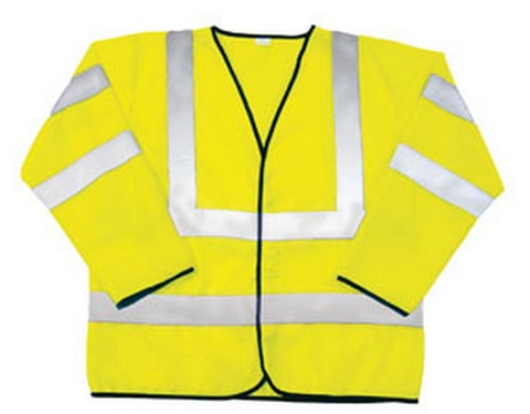 SAS Safety 690-1311 ANSI Class 3 Safety Jacket, Yellow - 2X-Large