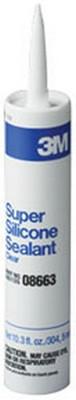 3M 8663 Super Silicone Seal 08663 Clear, 1/10 gal cartridge