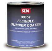 SEM Paints 39104 Flexible BUMPER COATER, 1-Quart Can