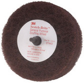 "3M 7443 Scotch-Brite™ Scuffing Wheel General Purpose 07443, 4"" x 1 1/8"", 10/cs"