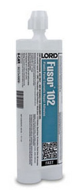 Lord Fusor 102 Plastic Body Cosmetic Repair Adhesive (Fast-Set), 10.1 oz.