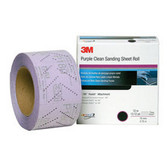 3M 30703 3M™ Hookit™Purple Clean Sanding Sheet Roll 334U, 30703, 70MM x 12M, P400