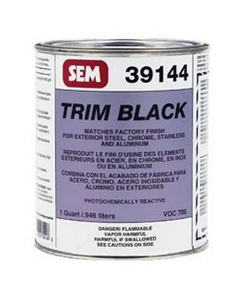 SEM Paints 39144 Trim Black, Quart Can