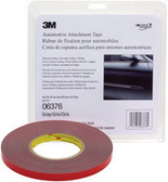 3M 6376 Automotive Attachment Tape, Gray, 1/4 in x 20 yd, 30 mil