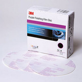3M 30668 Purple Finishing Film Hookit™ Disc, 6 in, P1200, 50 discs per box