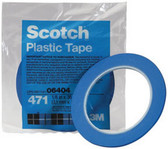 "3M 6409 Scotch® Plastic Tape 471 Blue, 3/4"" x 36 yd"