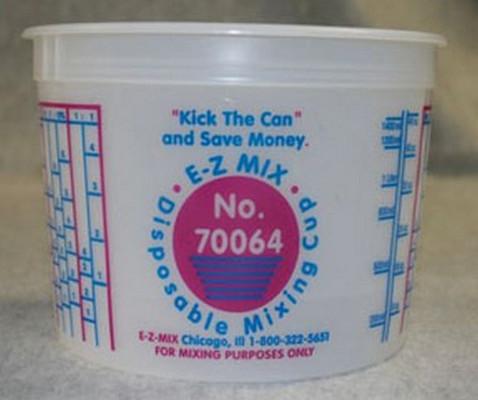 E-Z Mix 70064 2-Quart Plastic Mixing Cups, box of 50