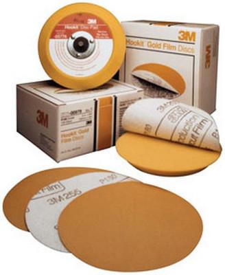 """3M 983 Hookit™ Gold Disc 00983, 6"""", P80C, 75 discs/bx"""