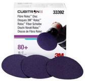 """3M 33392 3"""" Cubitron™ II Fibre Roloc™ 80+ Grade Disc"""