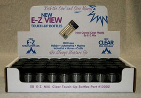 E-Z Mix 10002 E-Z Clear Touch Up Bottle, box of 50