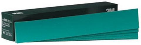 "3M 2231 Green Corps™ Stikit™ Production™ Sheet 02231, 2 3/4"" x 16 1/2"", 40E, 100 sheets/box"