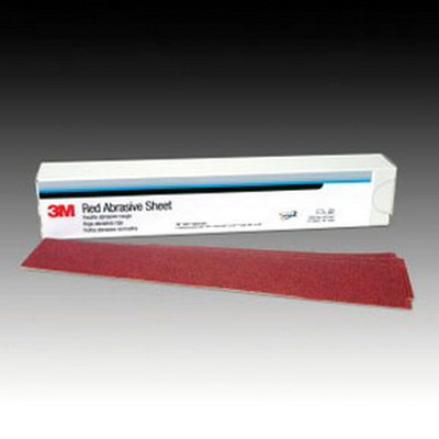 3M 1680 Red Abrasive Stikit™ Sheet, 2-3/4 in X 16-1/2 in, 40D, 25 sheets per box