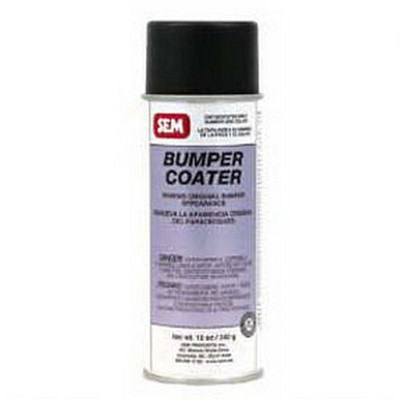 SEM Paints 39083 Bumper Coater-Gloss Black, 16oz Aerosol Can