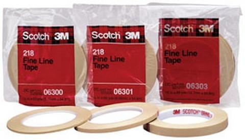 """3M 6303 Scotch® Fine Line Tape 218, 1/2"""" x 60 yd"""