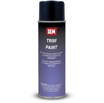 SEM Paints 39063 Trim-Gloss Trim Black, 16oz Aerosol Can