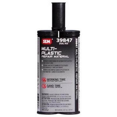 SEM Paints 39847 Multi-Plastic Repair Material, 7oz Plastic Cartridge