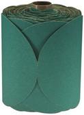 "3M 1506 6"" Stikit™ Green Fre-Cut™ 80D Grade Sanding Discs- 100 Disc Roll"