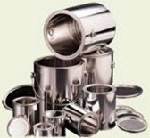 U.S. Can 1908 Empty Steel Quart Cans with Lids