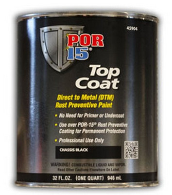 POR-15 45904  Top Coat, Chassis Black, Quart
