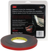 "3M 6397 Automotive Acrylic Plus Attachment Tape 06397, Black, 1/2"" X 10 Yds, 60 mil"
