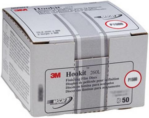 """3M 907 Hookit™ Finishing Film Disc 00907, 3"""", P1500, 50 discs/bx"""