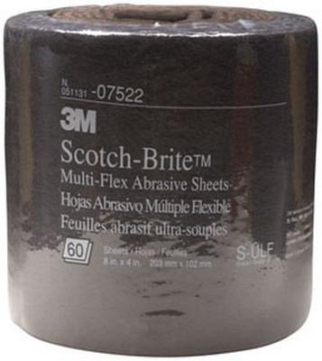"""3M 7522 Scotch-Brite™ Multi-Flex Abrasive Sheet Roll 07522 Ultra Fine, 8"""" x 20'"""