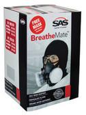 SAS Safety 031-2115 BreatheMate Respirator Kit Bundle, Medium
