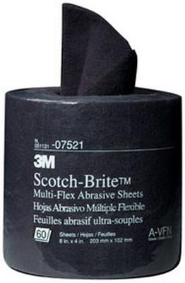 """3M 7521 Scotch-Brite™ Multi-Flex Abrasive Sheet Roll 07521 General Purpose, 8"""" x 20'"""