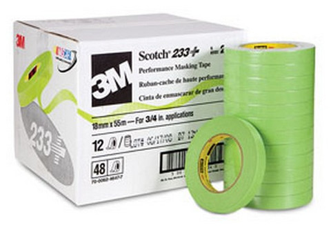 "3M 26334CS 3/4"" Scotch® Premium Automotive 233+ Masking Tape"