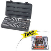 "GearWrench 80550D 57pc. 3/8"" Dr. 6pt. SAE/Metric Socket Set w/ FREE 12pc. SAE/Metric Combo Ratcheting GearWrench™ Set"