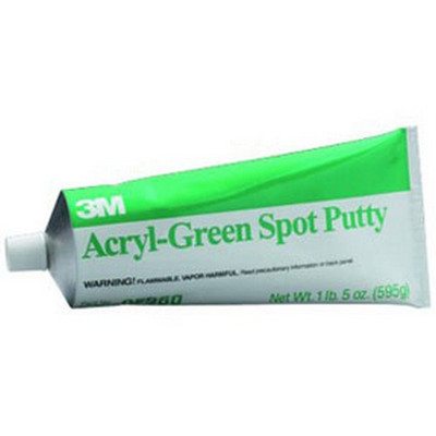3M 5096 Acryl-Green Spot Putty, 14.5 oz tube