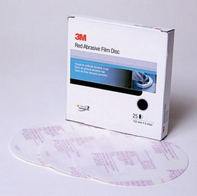 3M 1187 Red Abrasive Hookit™ Disc, 6 in, P800, 50 discs per box