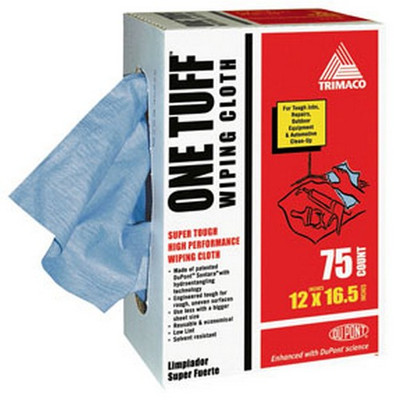 Trimaco 84075 One Tuff™ Wiping Cloths with DuPont™ Co-Brand, 12x16.5, 75 pack
