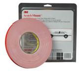 """3M 6382 Automotive Acrylic Plus Attachment Tape 06382, Black, 1/2"""" X 20 Yds, 45 mil"""