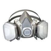 3M 7193 Dual Cartridge Respirator Assembly 07193, Organic Vapor/P95, Large