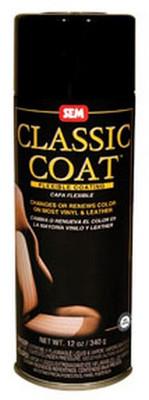SEM Paints 17013 Classic Coat Medium Black, 16oz Aerosol Can