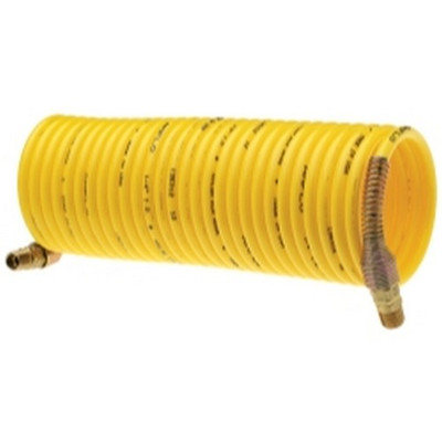"Amflo 4-25-RET Standard Recoil Hose, 1/4"" x 25', Yellow, Display Pack"