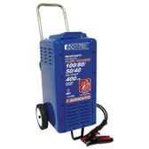 Associated 6002B Battery Charger 6/12/24 Volt, 100/80/50/40 Amp Charge, 400 Amp Crank Assist