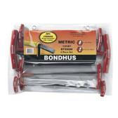 Bondhus 13187 T-Handles Balldriver Hex 8pc Set