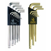 Bondhus 20399 Ball End L-Wrench Double Pack w/BriteGuard & GoldGuard Finish, USA Made