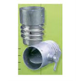"""Crushproof OC40 Overhead Duct Connector for 4"""" Hose"""