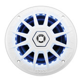"Boss Audio MRGB65 Marine White 6.5"" 2 Way Speaker (Pair) Multi Color Illumination Wireless Remote"