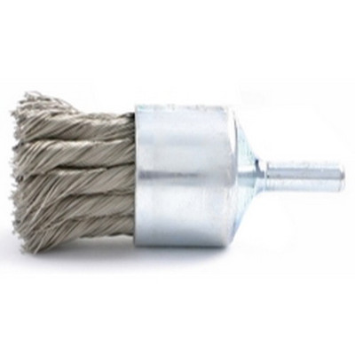 "Brush Research BNH620 3/4"" Knotted Wire End Brush, .020"